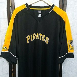 NWT Cooperstown pirates black & yellow Jersey 2XLT